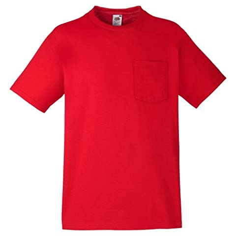 Fruit Of The Loom Herren T-Shirt mit Brusttasche