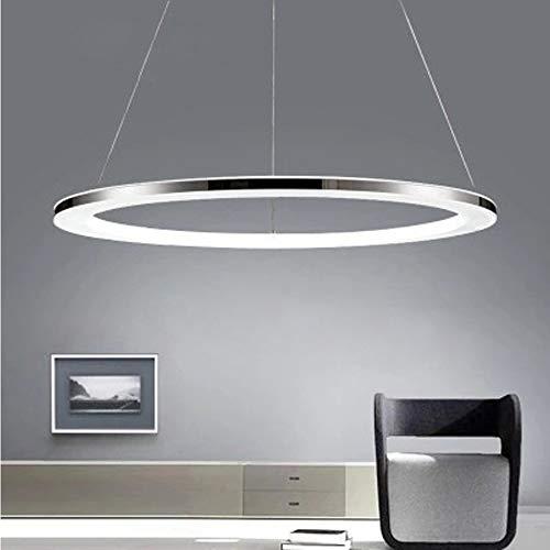 KADONNY Pendelleuchte LED, Dimmbar Modern Hängelampe mit Fernbedienung Pendellampe Rund Höhenverstellbar Ein Ring Design Kronleuchter Innenbeleuchtung Acryl Lampeschirm 25W Ø50cm