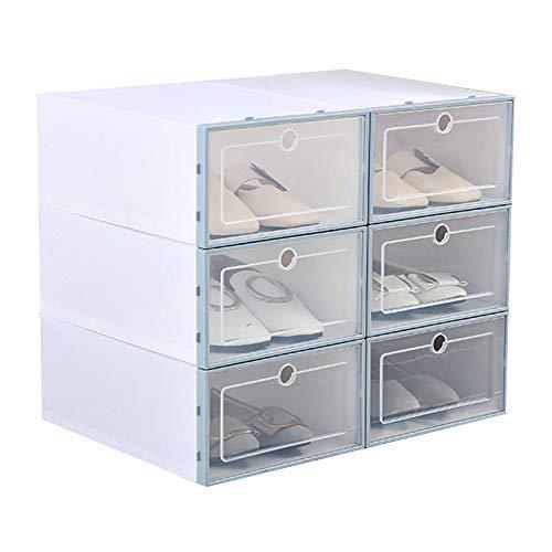 Reuvv Plástico Zapato Caja, Transparente Zapato Caja FILP Diseño Almacenamiento Zapatos, Diseño Robusto...