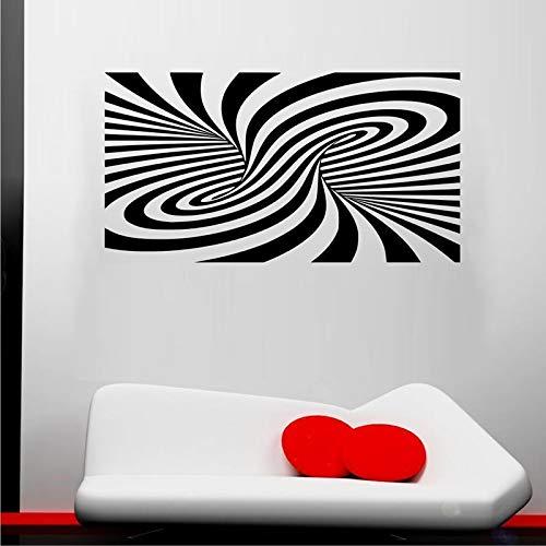 jiuyaomai Abstrakte Mode Illusion Wandaufkleber Für Wohnzimmer Tapete Kunst Dekor Wandbilder Vinyl Wandtattoos Schlafzimmer Dekoration blau 105X57 cm -
