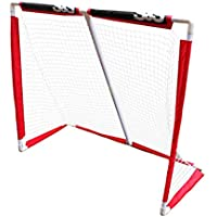 LIULU Mini Meta del Hockey de niños Grupo Juego de Exterior Cooperación Meta roja de PVC (Color : Red, tamaño : 137x1 16x60cm)