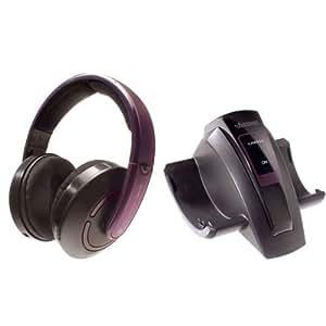 Aircoustic FMH 6180 Freedom Funk Kopfhörer Set mit Autotuning und Balanceregler lila