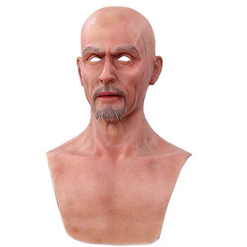 Männliche Halloween Masken Silikon Realistisch Voller Kopf Maskerade Für Crossdresser Cosplayer Maske Kostüm-Party Wechselnde Lieferungen