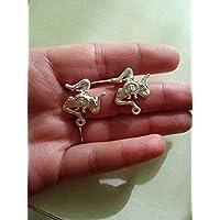 regalo di natale orecchini sicilia trinacria triskele simbolo della sicilia ottone argento lavorato a mano barocchi eleganti
