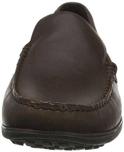 Rockport Bayley Venetian Dark Brown, Mocassins Homme Marron (Dark Brown)