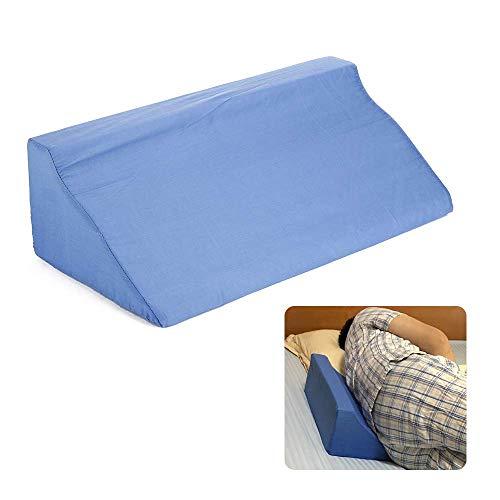 JFJL Bettkeilkissen mit Memory Foam Top - Am besten zum Schlafen, Acid Reflux, Nachoperationen, Lesen, Beinheben, Schnarchen und Schlafatmungsstörungen - Keilkissen Körperposition Keile (blau) - Pillow-top-schaum