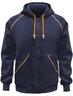 KERMEN - Kapuzen-jacke-Pullover, robustes Langarm-Sweatshirt Hoodie 300 GR - made in EU - schwarz blau grau