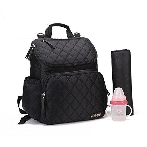 Multifunktionswindel tasche Wasserdichte Babytasche Organizer Kinderwagen Wickeltaschen Mom Rucksack Mutter Mutterschaft Taschen Windel Rucksack (black)