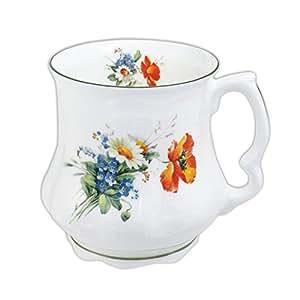 David Michael - Della nonna Grande Caffe e te Tazza con fiori di campo bouquet