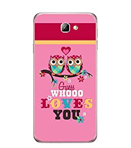Fuson Designer Back Case Cover for Samsung On7 (2016) New Edition For 2017 :: Samsung Galaxy On 5 (2017) (couple owl lovers heart pyar)