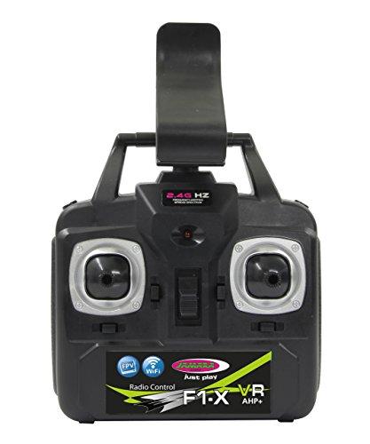 Jamara 422021 - F1X VR Altitude FPV Wifi Kompass Flyback - Race Drone, inklusiv VR-Brille, über Sender und App steuern, 3 Geschwindigkeiten, 40 KM/h, Höhenkontrolle (Barometer) und Rückflugautomatik - 10