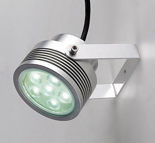 Lampenlux LED Außenstrahler Egon Aufbaustrahler Gartenlampe Scheinwerfer Wegeleuchte Schweinwerfer Fluter Schwenkbar IP65 Aluminium