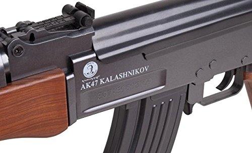 Softair-Gewehr AK 47 wood schwarz braun Federdruck Abbildung 3
