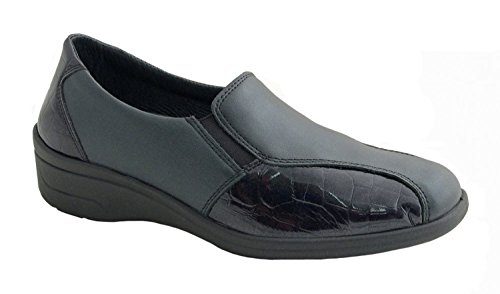 Rohde Damen Slipper 9102-90 schwarz Schwarz
