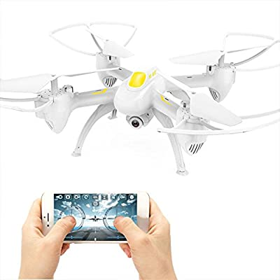 Hanbaili Upgraded S19 RC Quadcopter Drone With 2MP Camera,Beautiful Lights, Two-speed Switching,Set High Hover, Drone with Headless Mode for Kids