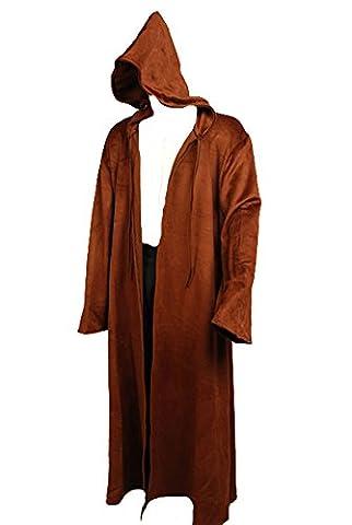 daiendi Cape en laine marron Sith Peignoir Jedi Star Wars Obi Wan Kenobi Costume Taille adulte EU - Marron -
