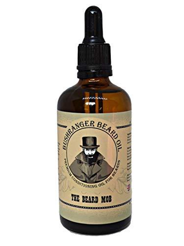 Bushranger Bartöl 100ml XL - Pflege für einen weicheren, dickeren und volleren Bart. Leichtes Öl mit erfrischendem Duft. Stimuliert das Haarwachstum und spendet Feuchtigkeit.