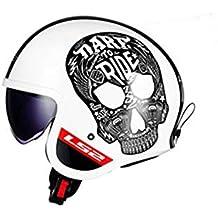 CFYBAO Casco Retro de Harley con la Lente incorporada ECER22-05 la certificación de Seguridad