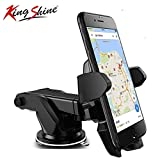 King Shine Universal Silicone Sucker Car Mobile Holder/Car Mount Long Neck 360° Rotation with Ultimate Reusable Suction Cup