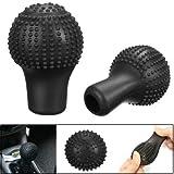 #10: Nonslip Round Car Shift Knob Gear Stick Protective Soft Silicone Cover 30mm -Black for - Maruti Suzuki Swift Dzire Sold by H & S Designer Studio