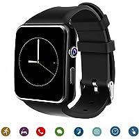 Smartwatch TagoBee TB-01 reloj inteligente Bluetooth con cámara reproductor de música compatible con tarjeta SIM/TF 2.5D pantalla táctil para teléfonos Android y iPhone (función parcial) negro