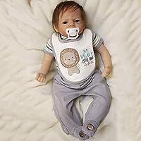 Simulation doll 22 inch Mini Full Body Soft Silicone Baby Realistic Newborn Baby Girl Dolls Handmade Toy Cute Xmas Birthday Gift