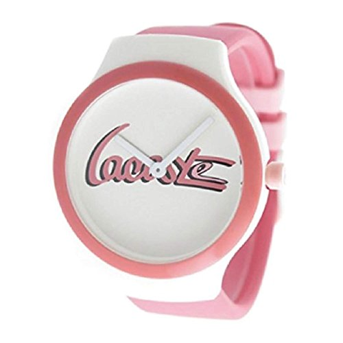 Lacoste Unisex Goa Pink Rubber Band Steel Case Quartz White Dial Watch 2020131