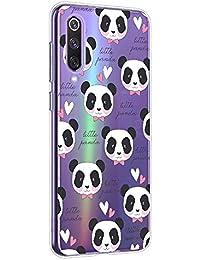 Oihxse Cristal Compatible con Xiaomi Mi Play Funda Ultra-Delgado Silicona TPU Suave Protector Estuche Creativa Patrón Panda Protector Anti-Choque Carcasa Cover(Panda A9)