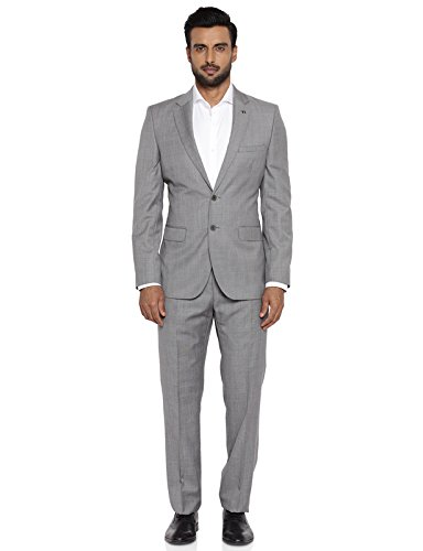 Raymond Medium Grey Polyester Blend Suit