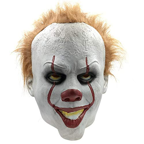 (YIFNJCG Halloween Erwachsene Latex Horror Maske Grimasse Maske Party Maske Scary Teufel Maske Film Requisiten Maskerade Maske)