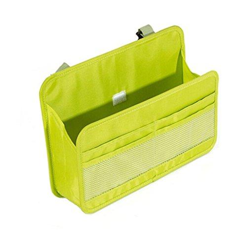 Preisvergleich Produktbild fireangels Auto Back Seat Cover Protector und Aufbewahrungstasche Wandhalterung Oxford Stoff Datei Organizer zum Aufhängen Ordner Dokument Tasche Magazin Lagerung (grün)