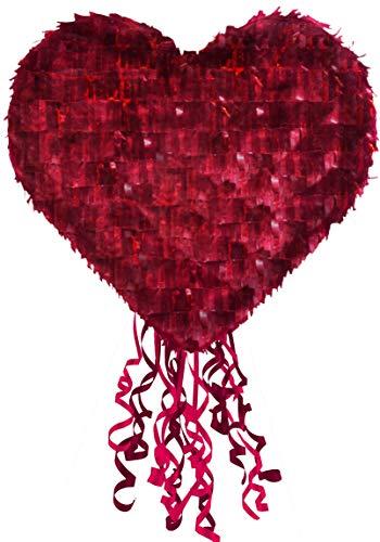 XXL Pinata Rotes Herz / Hochzeits-Deko / Geschenk-Idee / Valentins-Tag / Geburtstags-Geschenk