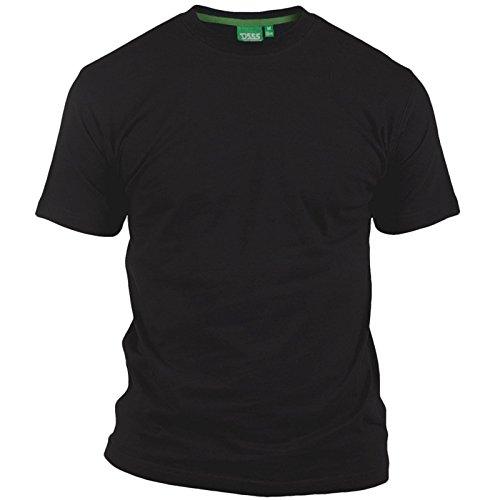 Talla Grande Hombre Camiseta Duke D555 Nuevo Algodón Puro Camiseta Manga Corta Cuello Redondo - Negro, Talla - 7XL - XXXXXXXL