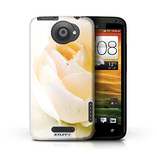 Kobalt® Imprimé Etui / Coque pour HTC One X / Papillon conception / Série floral Fleurs Doux Rose