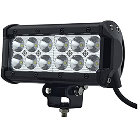 Amzdeal-Proyector LED Cree® 36W 12-Lámpara LED luz Flood Proyector LED de obra vehículo-Lámpara de trabajo LED-Faro LED para obra vehículo 4 x 4 focos barco camión