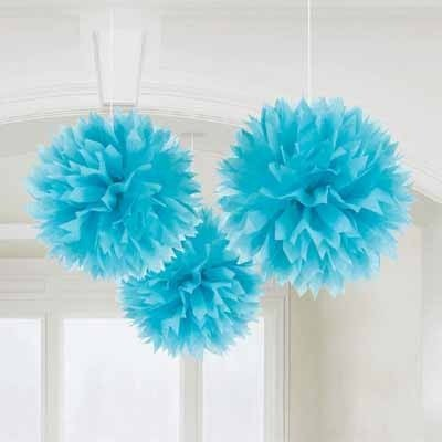 Madcaps Fluffy Decoration - Blue (Set of 3) 12