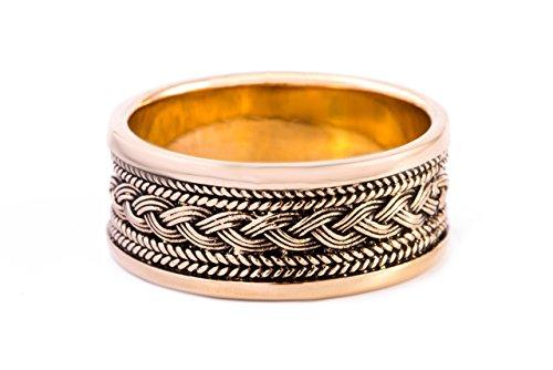 Windalf Wikinger-Ring BALDUR h: 1 cm Wikingerknoten Hochwertige Bronze (Bronze, 70 (22.3))