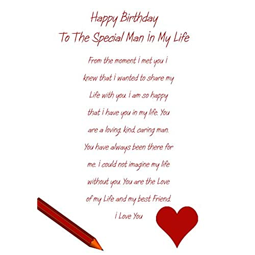 Partner birthday card amazon special man in my life birthday card bookmarktalkfo Image collections