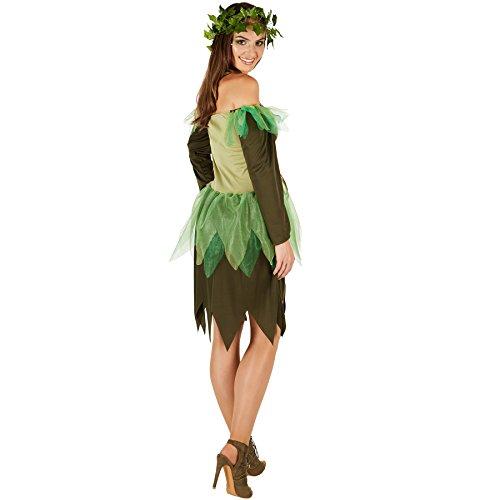 Imagen de disfraz de hada del bosque para mujer   vestido encantador   incl. corona de hiedra artificial l   no. 301132  alternativa