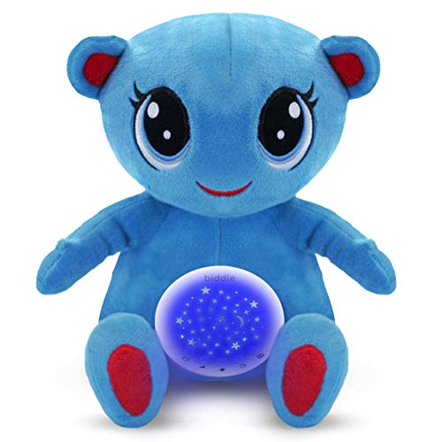White Noise Machine Baby Toys 0-6 months - BLU The Bear, Magical Night Light & Automatic Cry-Sensor, 10 Best Soothing Sounds,Adjustable Volume,100% Hand Or Machine Washable,3 x AAA Batteries(Included)