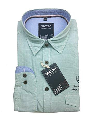GCM -  Camicia Casual  - Uomo verde menta
