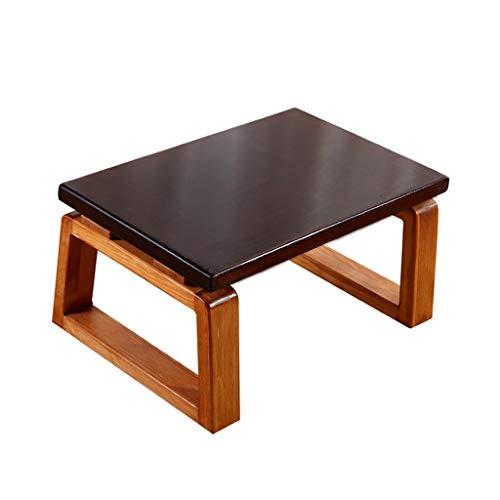 QFF-Computertisch Balkon Tisch, Wohnzimmer Studie Boden couchtisch massivholz Haushalt Tee Tisch multifunktions niedrigen Tisch Schreibtisch (Color : A, Size : 80 * 45 * 30CM) -