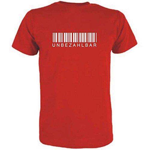 Spruchreif T-Shirt UNBEZAHLBAR (Farbe rot) (Größe XL)