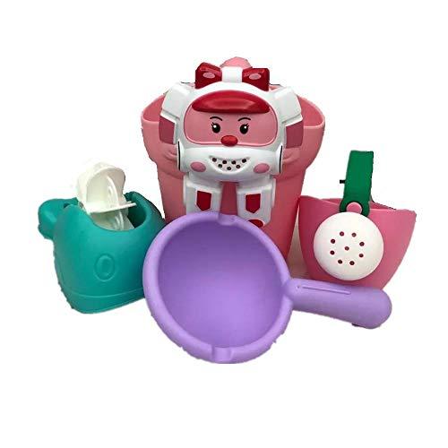 MYSTERIOUS SHAMPOO Badespielzeug3 Boxen Spaß Cartoon Auto Polizeiwagen Weichen Gummi Badespielzeug Für Babys Badespielzeug Baby Badespielzeug Organizer -