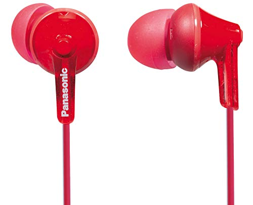 Panasonic ErgoFit RP-HJE125, Auriculares intraurales, color Rojo