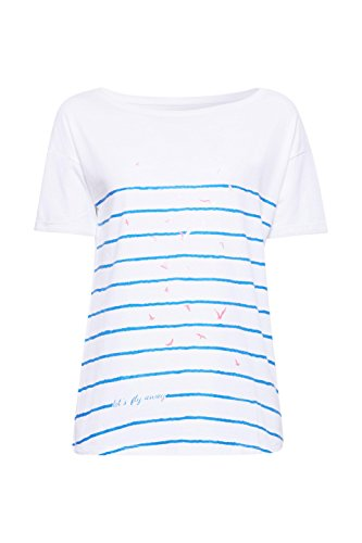 edc by ESPRIT Damen T-Shirt Weiß (White 2 101)