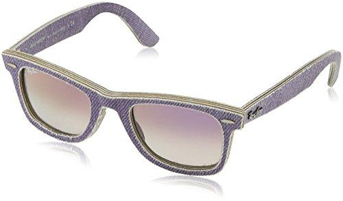RAYBAN Unisex-Erwachsene Sonnenbrille Wayfarer, Violett (Blue Jeans Violet/Cleargradientviolet), 50 mm