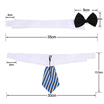 3 Pieces Adjustable Pets Dog Cat Bow Tie Pet Costume Necktie Collar for Small Dogs Puppy Grooming Accessories (S) by Shappy