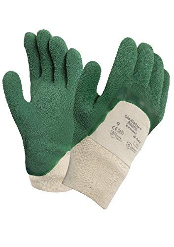 Ansell Gladiator 16-500 Gants pour usages multiples, protection mécanique, Vert, Taille 9 (Sachet de 12 paires)