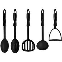 Premier Housewares Kitchen Tool Set, 5-Pieces - Black